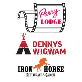 Parry Lodge - Denny's Wigwam - Ironhorse Restaurant & Saloon Logo