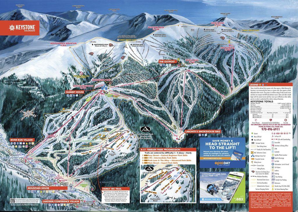 Snow Tubing Hill Attendant Keystone Ski Resort Keystone Sep - Beaver creek ski trail map
