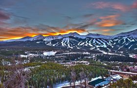 Breckenridge winter town