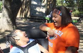 Good times   good friends at camp summit