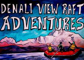 Denali View Raft Adventures LLC.  Logo